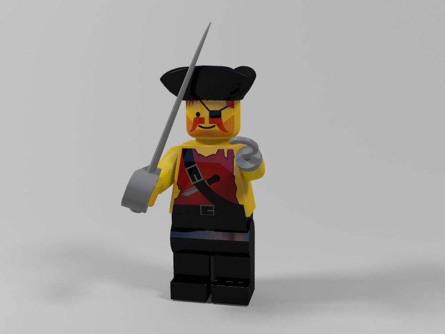 Pirackie postacie lego royalty-free 3d model - Preview no. 11