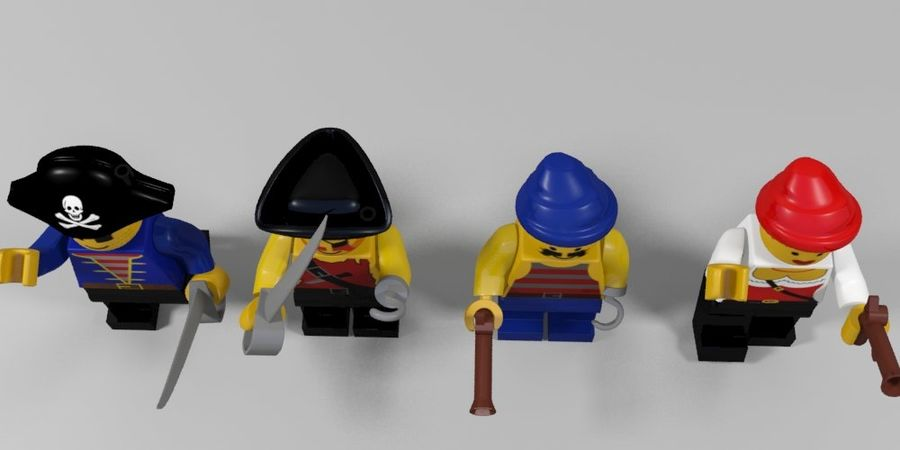 Pirates lego karaktärer royalty-free 3d model - Preview no. 4