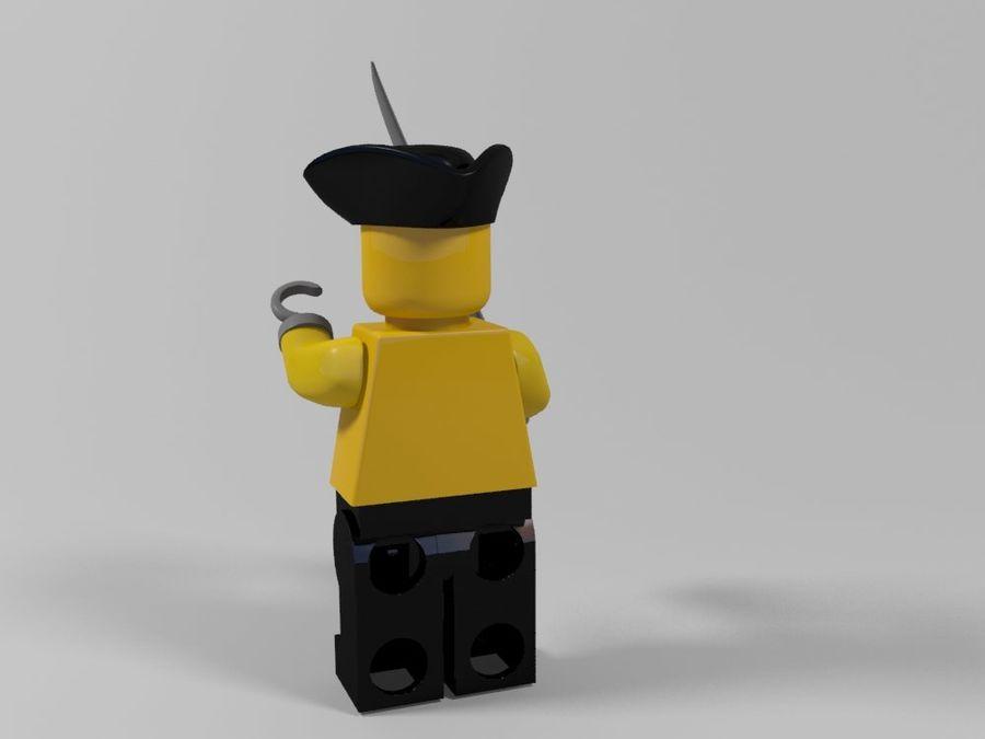 Pirackie postacie lego royalty-free 3d model - Preview no. 12