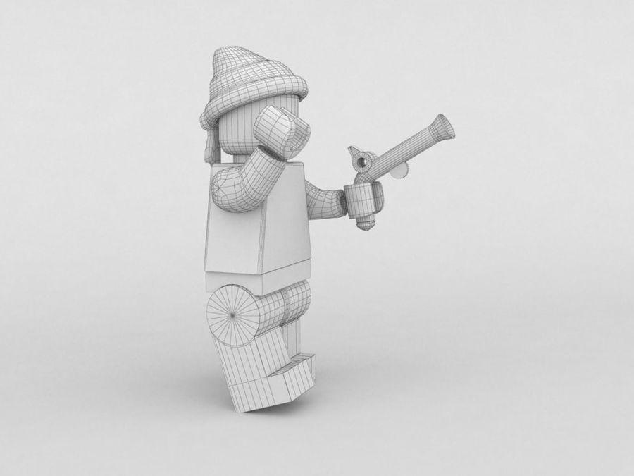 Pirackie postacie lego royalty-free 3d model - Preview no. 29