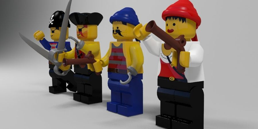 Pirates lego karaktärer royalty-free 3d model - Preview no. 2
