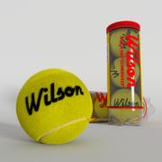 Tennis Balls plus Container 3d model