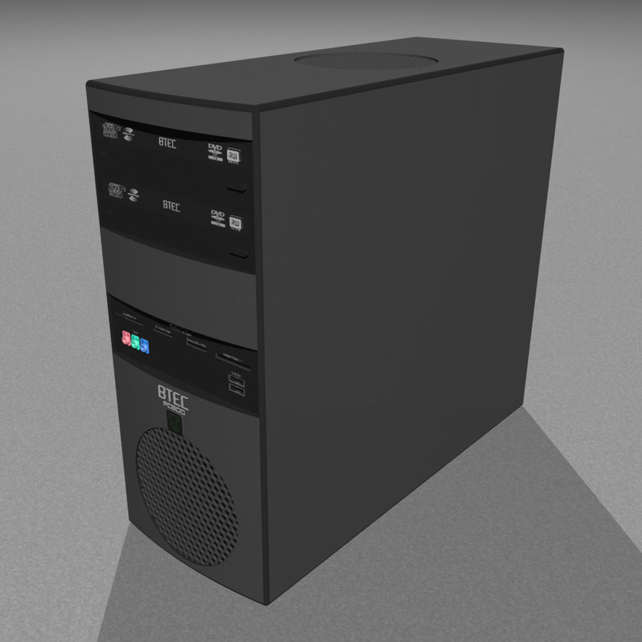 Computer Tower: BTEC PC900 royalty-free 3d model - Preview no. 1