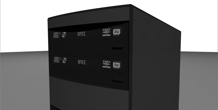 Computer Tower: BTEC PC900 royalty-free 3d model - Preview no. 10