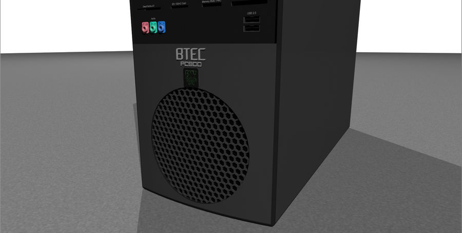Computer Tower: BTEC PC900 royalty-free 3d model - Preview no. 8
