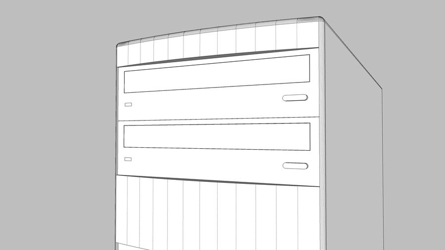 Computer Tower: BTEC PC900 royalty-free 3d model - Preview no. 25