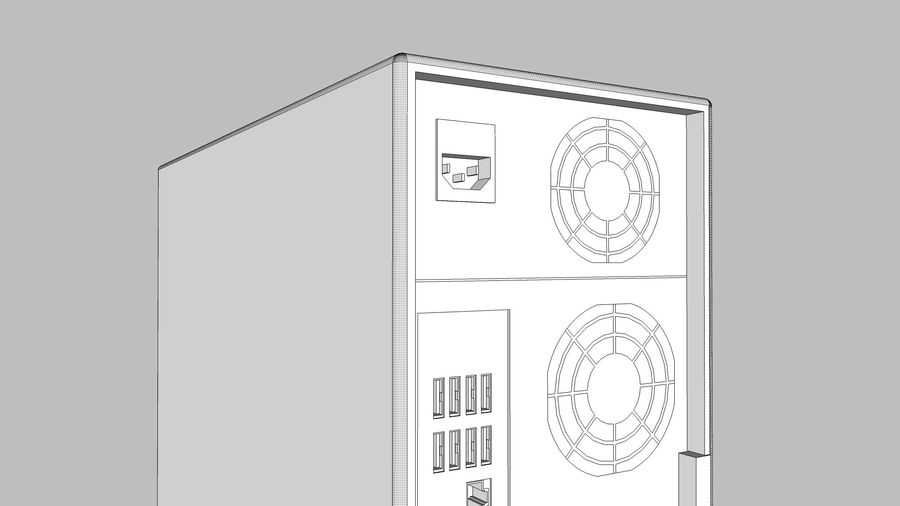 Computer Tower: BTEC PC900 royalty-free 3d model - Preview no. 26