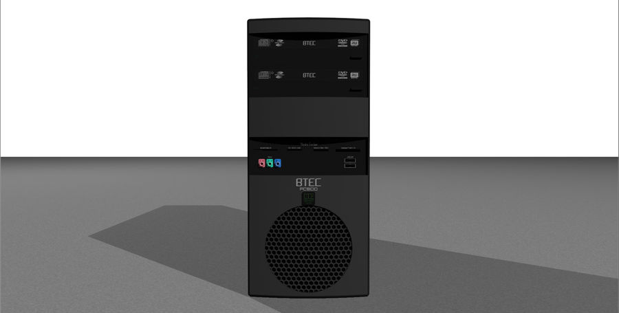 Computer Tower: BTEC PC900 royalty-free 3d model - Preview no. 3