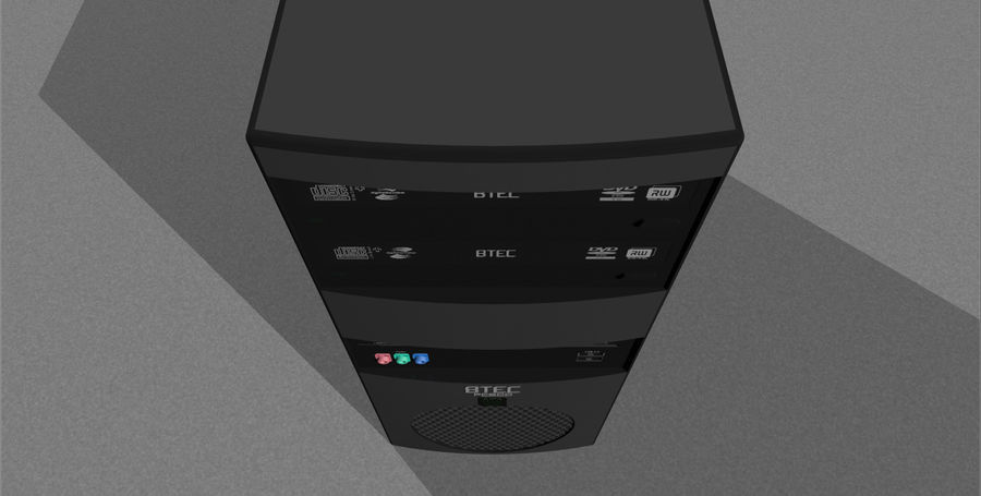 Computer Tower: BTEC PC900 royalty-free 3d model - Preview no. 11