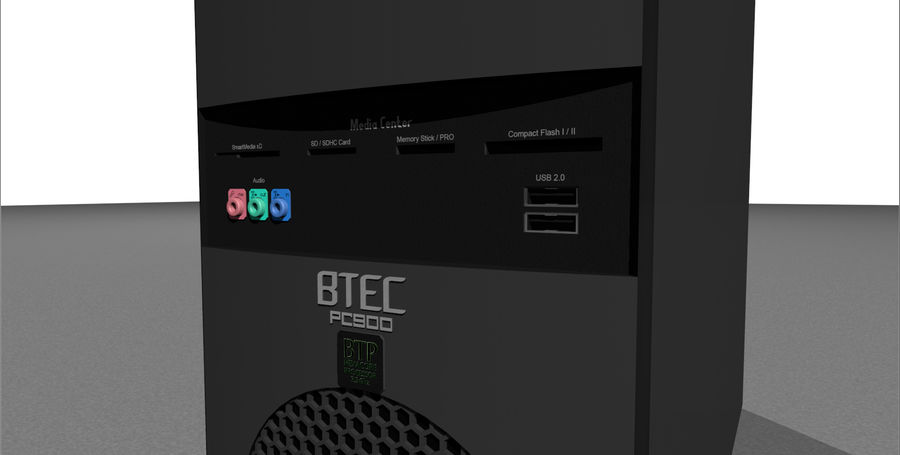 Computer Tower: BTEC PC900 royalty-free 3d model - Preview no. 9