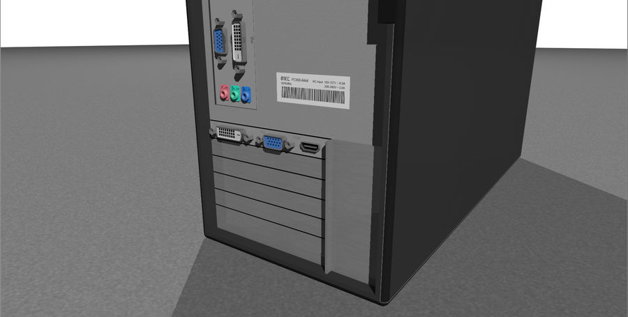 Computer Tower: BTEC PC900 royalty-free 3d model - Preview no. 13