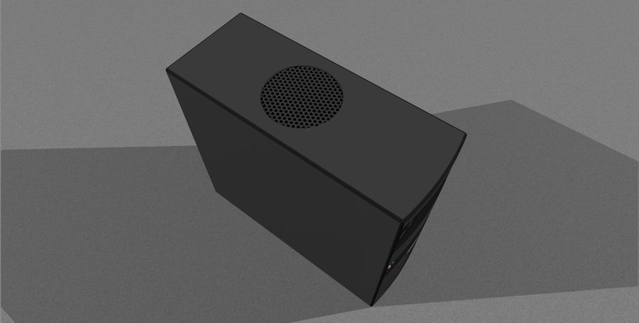 Computer Tower: BTEC PC900 royalty-free 3d model - Preview no. 12
