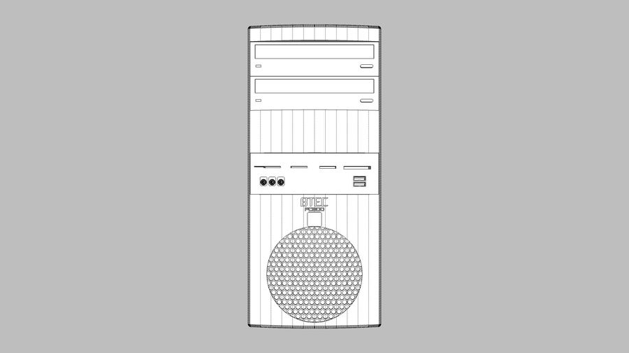 Computer Tower: BTEC PC900 royalty-free 3d model - Preview no. 18