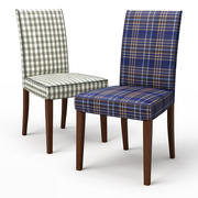 HENRIKSDAL Dining chair Rutna Multicolour 3d model