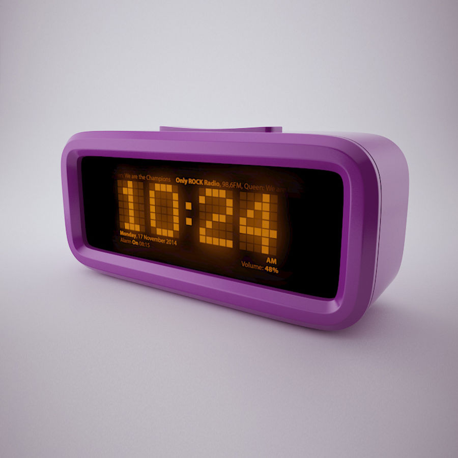 Digital Alarm Clock royalty-free 3d model - Preview no. 1