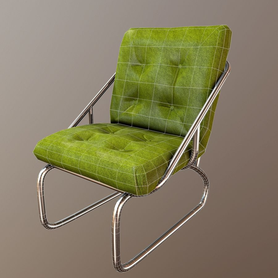 Modern Chair royalty-free 3d model - Preview no. 5