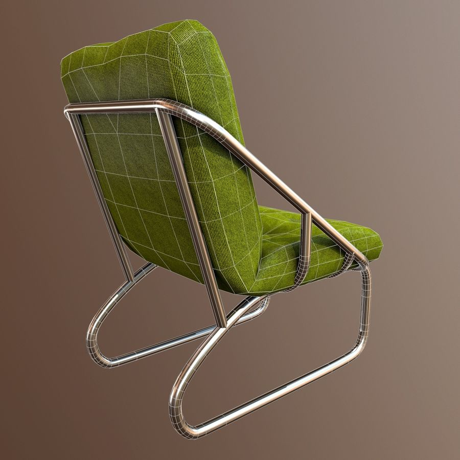 Modern Chair royalty-free 3d model - Preview no. 7
