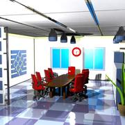 Cartoon Conference Room 3d model