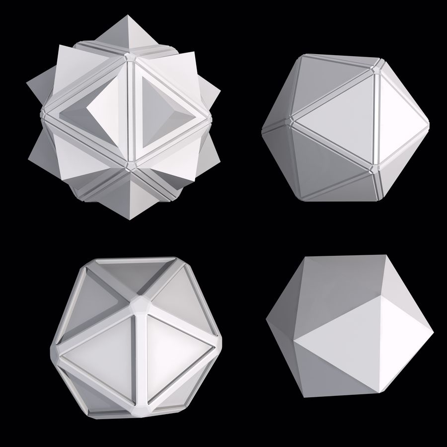 Geometric Shape MHT-01 royalty-free 3d model - Preview no. 3