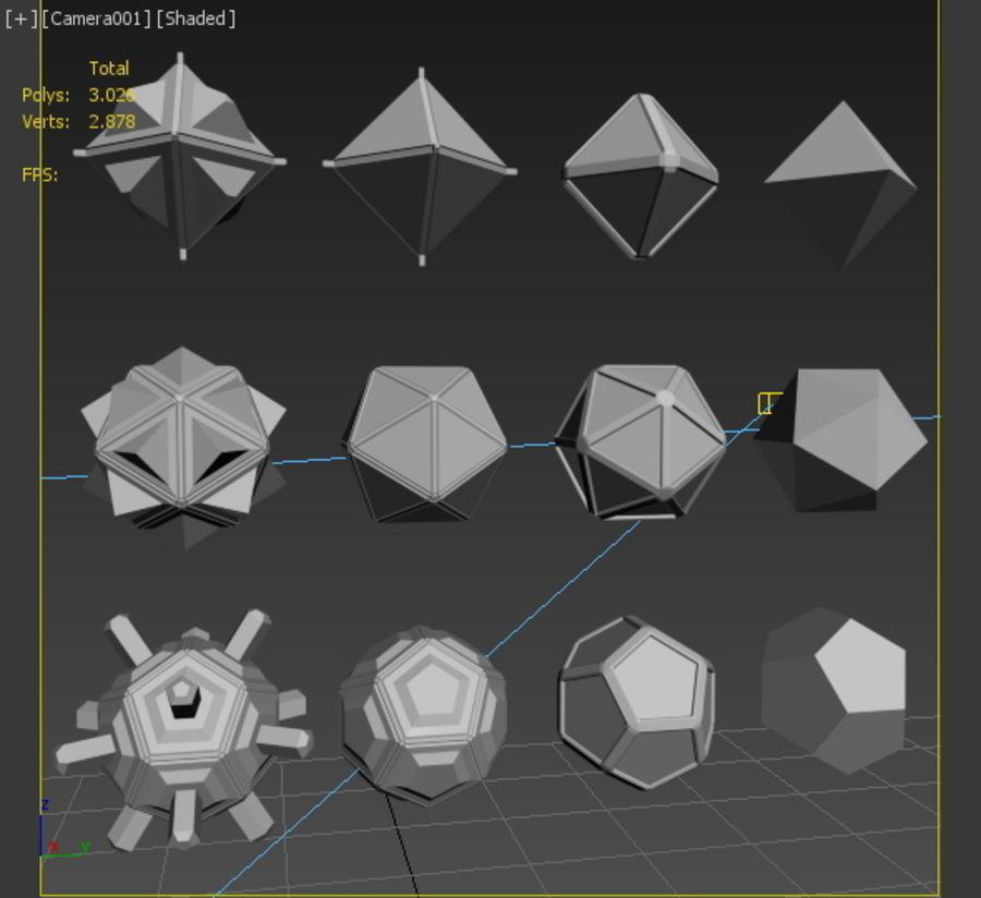 Geometric Shape MHT-01 royalty-free 3d model - Preview no. 6