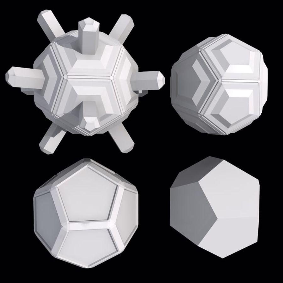 Geometric Shape MHT-01 royalty-free 3d model - Preview no. 4