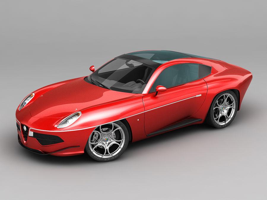 Alfa Romeo Disco Volante Touring 2013 Red 3d Model 20 X Obj