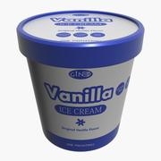 Ice Cream Pot Vanilla 3d model
