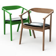 STOCKHOLM Dining chair with chair pad 3d model