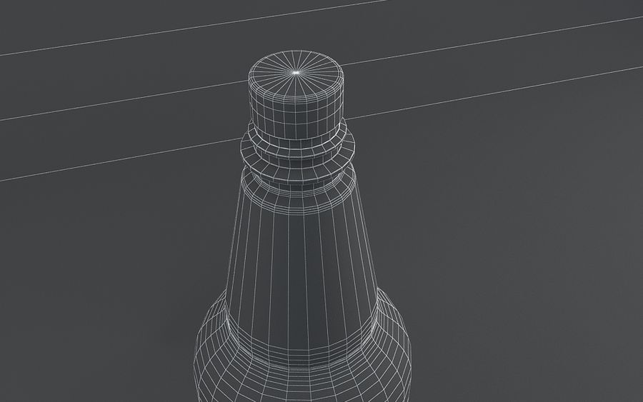 Plastic Beer Bottle royalty-free 3d model - Preview no. 4