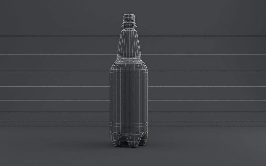 Plastic Beer Bottle royalty-free 3d model - Preview no. 3