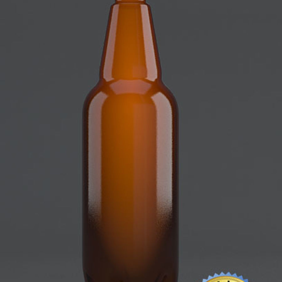 Plastic Beer Bottle royalty-free 3d model - Preview no. 1