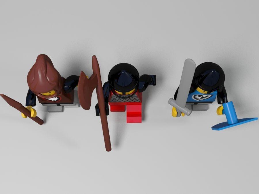 Personnages de Lego royalty-free 3d model - Preview no. 6