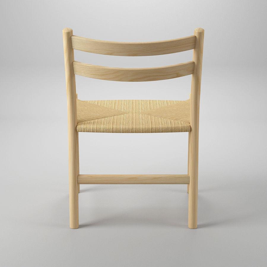 CH47 Hans J. Wegner Chair royalty-free 3d model - Preview no. 6