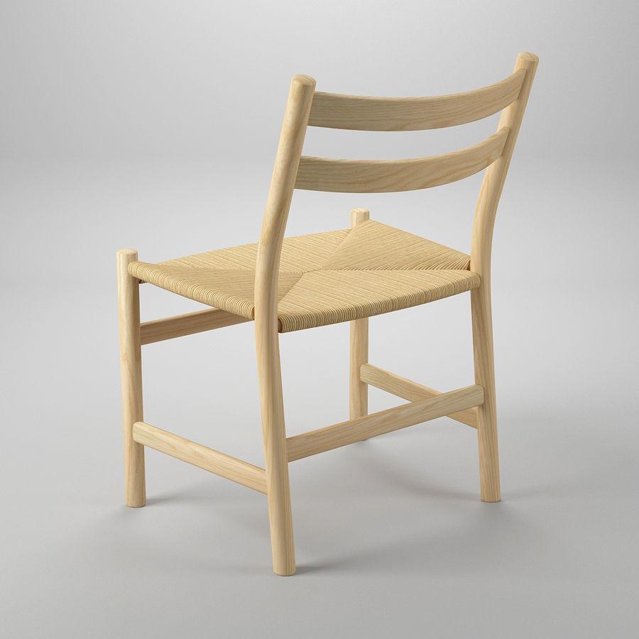 CH47 Hans J. Wegner Chair royalty-free 3d model - Preview no. 5