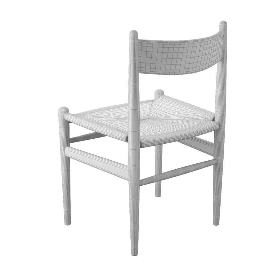 CH36 Hans J. Wegners chair royalty-free 3d model - Preview no. 10