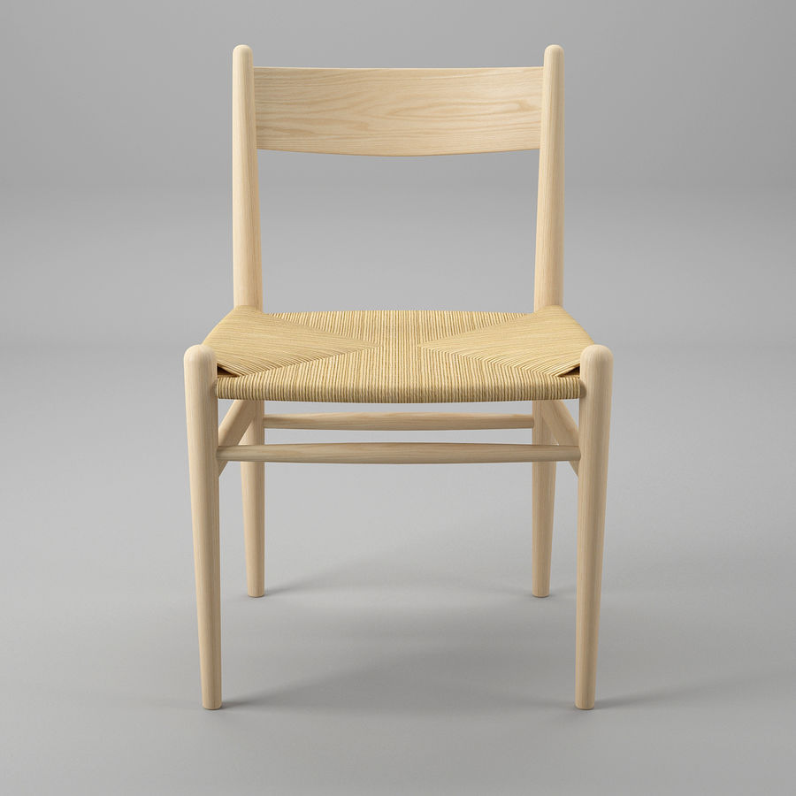 CH36 Hans J. Wegners chair royalty-free 3d model - Preview no. 3