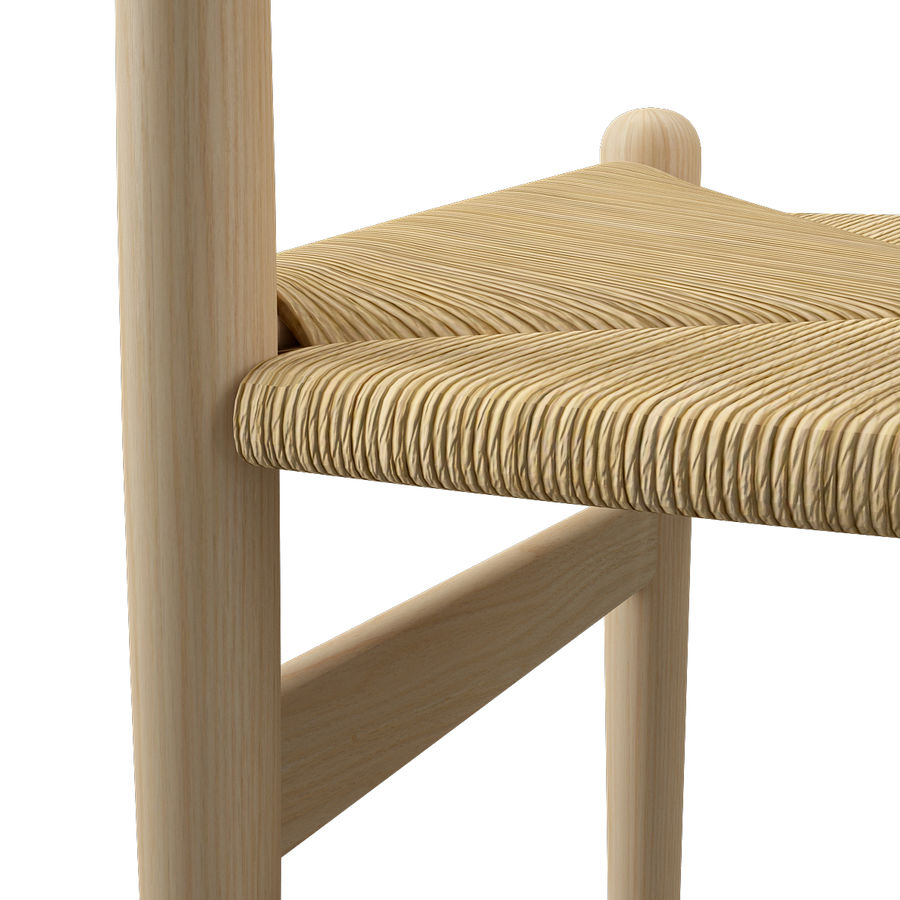 CH36 Hans J. Wegners chair royalty-free 3d model - Preview no. 15