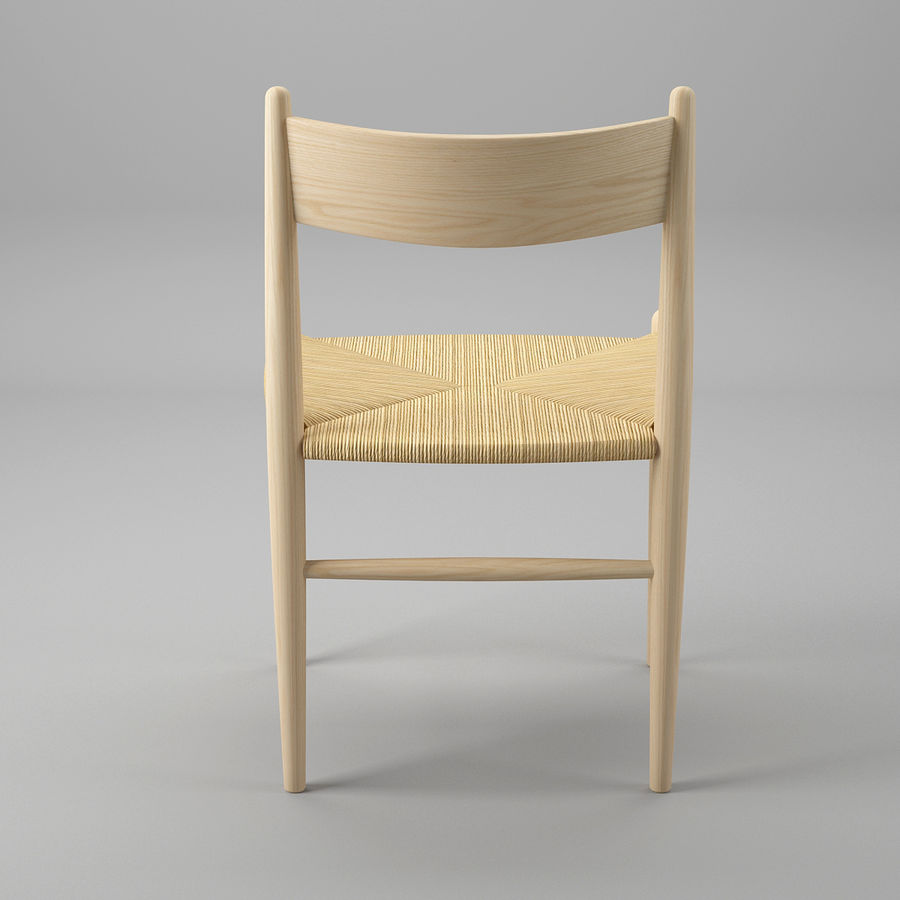 CH36 Hans J. Wegners chair royalty-free 3d model - Preview no. 6