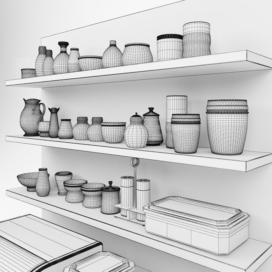 Kitchen Stuff Set 3D Model $25 -  obj  fbx  max - Free3D