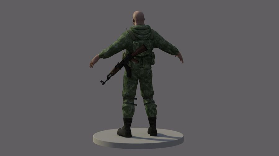 Russian marine royalty-free 3d model - Preview no. 2