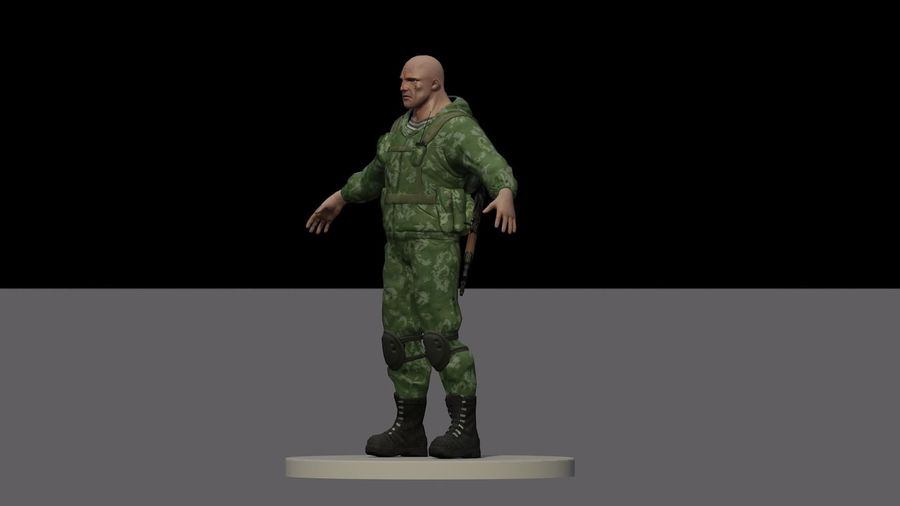 Russian marine royalty-free 3d model - Preview no. 7