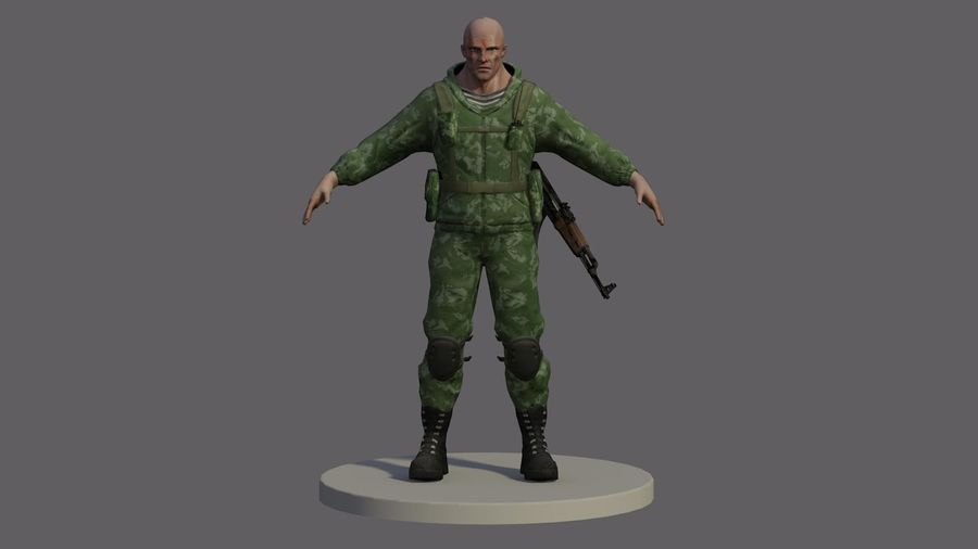 Russian marine royalty-free 3d model - Preview no. 1