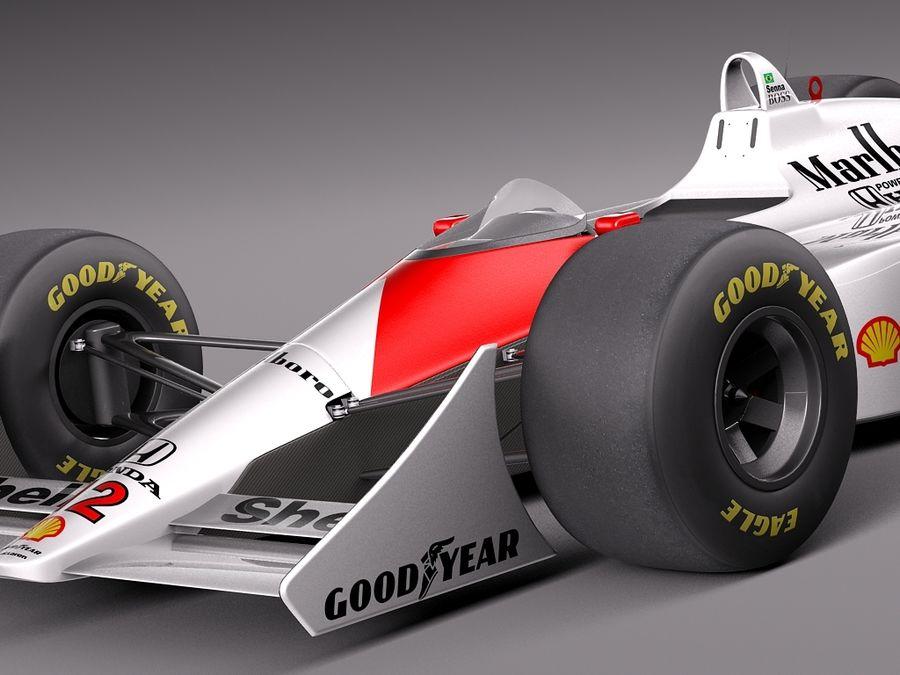 McLaren Honda Mp4-4 Ayrton Senna F1 royalty-free 3d model - Preview no. 3