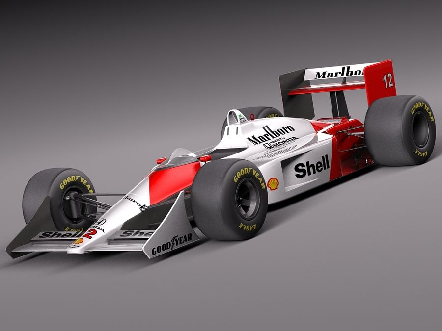 McLaren Honda Mp4-4 Ayrton Senna F1 royalty-free 3d model - Preview no. 1