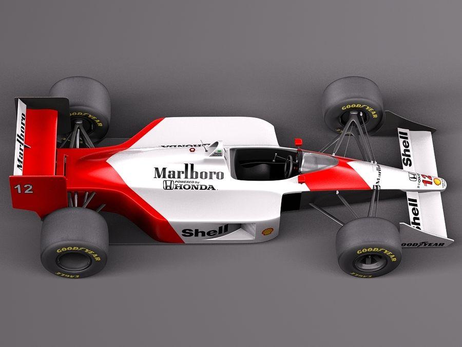 McLaren Honda Mp4-4 Ayrton Senna F1 royalty-free 3d model - Preview no. 8