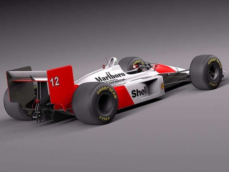 McLaren Honda Mp4-4 Ayrton Senna F1 royalty-free 3d model - Preview no. 5