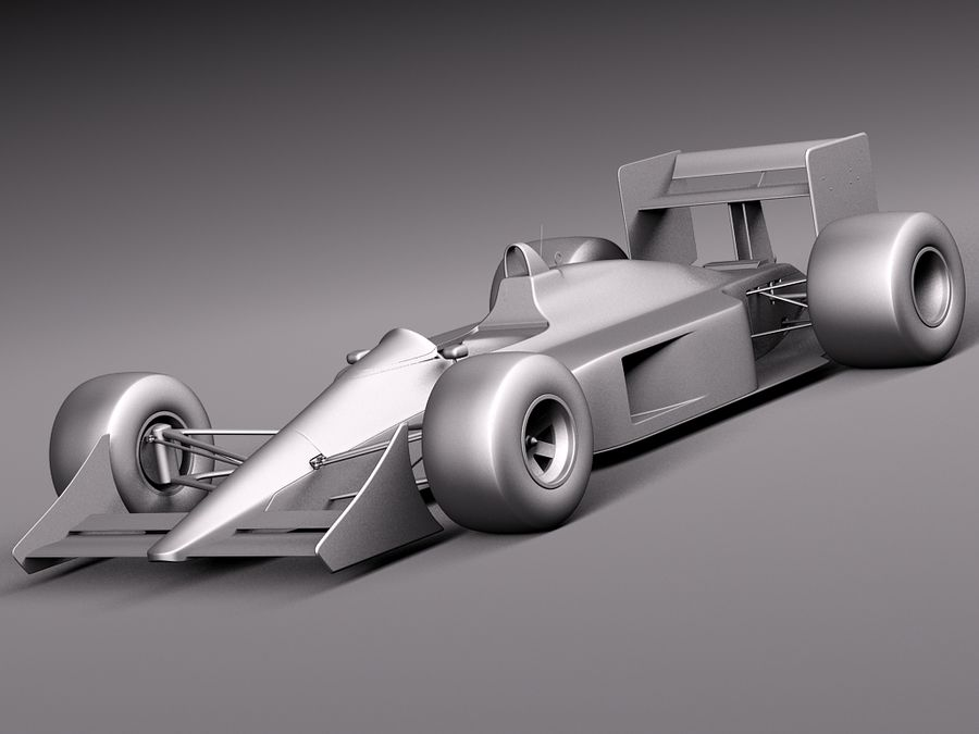 McLaren Honda Mp4-4 Ayrton Senna F1 royalty-free 3d model - Preview no. 10