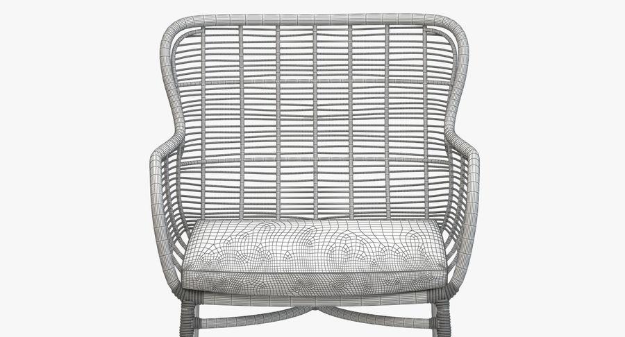 Peachy Palecek Palermo Maxime Armchair Brown 3D Model 14 Obj Theyellowbook Wood Chair Design Ideas Theyellowbookinfo