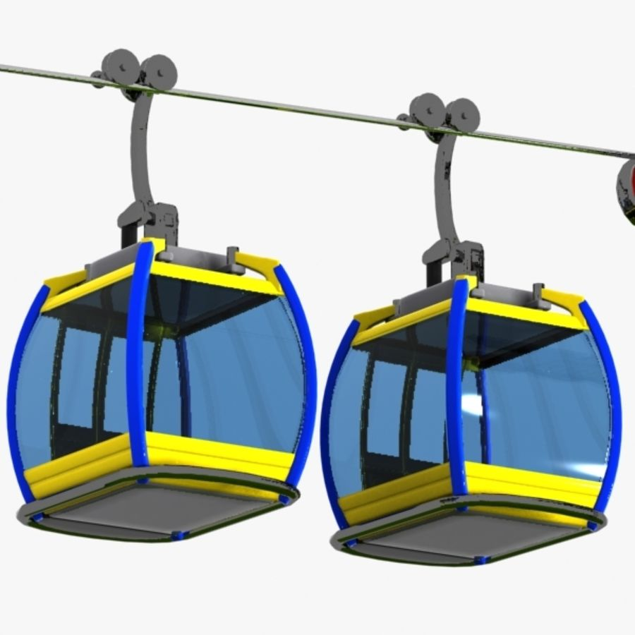 Cartoon Aerial Tramway royalty-free 3d model - Preview no. 8