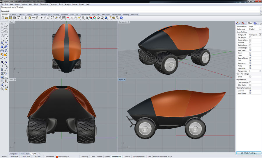 LadyBird Concept Car 3D Model $19 -  unknown  max  dwg  3ds